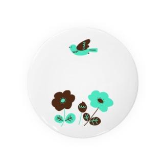 チョコミントカラーのお花 Badge