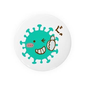 コロナウイルス コロナちゃん Badges