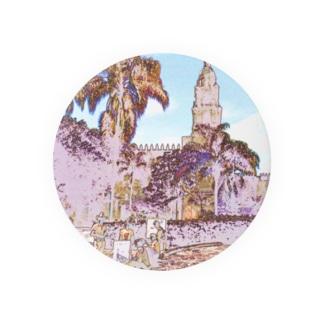 CG絵画:クエルナバカのカテドラル CG art: Catedral de la Asunción de María / Cuernavaca Badges