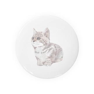 色鉛筆風の猫 Badges