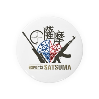 esports薩摩ロゴ入り缶バッジ Badges