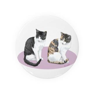河原の野良猫ビワとコチャ Badges