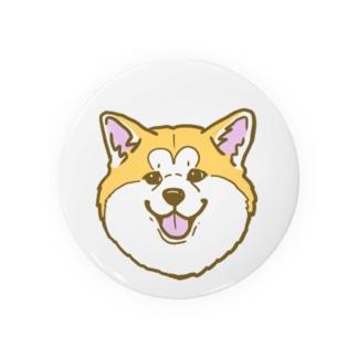 秋田犬ハッピースマイル赤毛 Badges