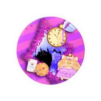 《ハロウィン》04*チェシャきじとら猫*紫背景ver. Badges