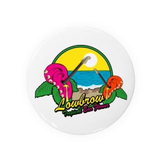 Lowbrow Tropical Ear Flower Badges