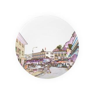 CG絵画:ファドゥーツの街角風景 CG art: view of Vaduz Badges
