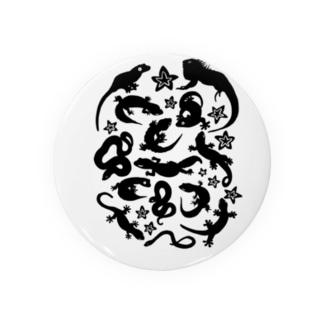 爬虫類たちのシルエット Badges