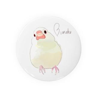 クリームイノ文鳥 Badges