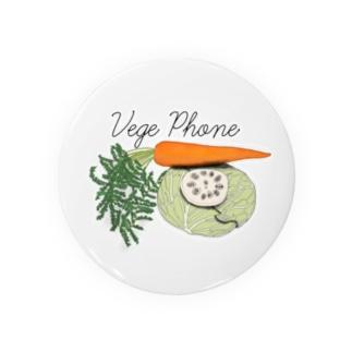 野菜電話 Badges