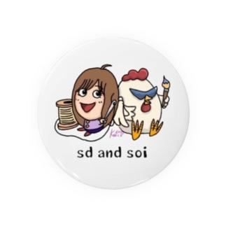 kocco&sd and soi のコラボ Badges