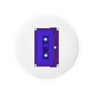 カセットテープ青 Badges