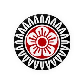 麻雀牌 1筒 イーピン <筒子>黒赤ロゴ Badges