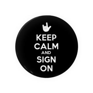 Keep Calm 手話 Badges