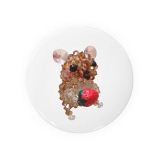 イチゴを持ったナキネズミちゃん Badges