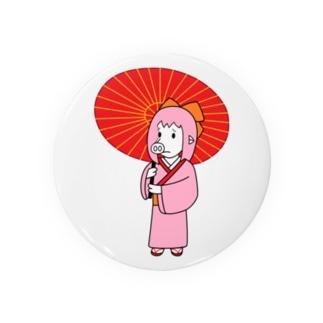 お豚(とん)さん、和傘をさす。 Badges