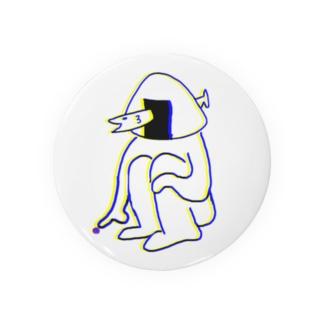 だんごむしをつつくオニギリ Badges