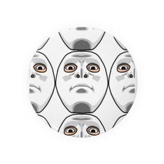 フェイスマスク。見下し。 Badges