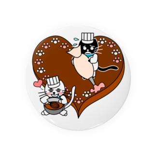 J's Mart 2ndのたまとクロのバレンタインチョコ Badges