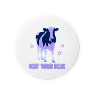 NOT YOUR MILK (パープル) Badges