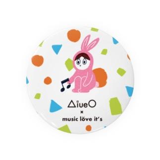 ラビッツマーケット@音楽メディアの公式グッズのAiueO×ミューラビコラボ(ラビ) Badges
