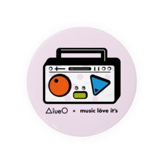 AiueO×ミューラビコラボ(ラジカセ) Badges