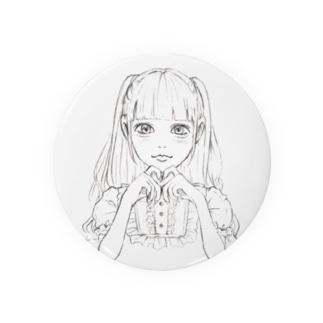 モノクロ地雷ちゃん Badges