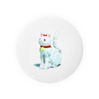 赤リボンの猫 Badges
