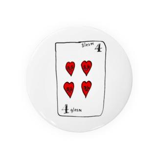 ハートの4 Badges