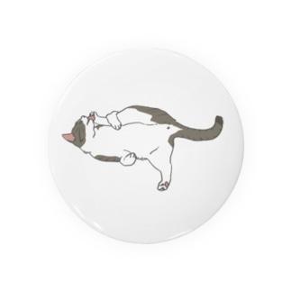 だらねこ(毛づくろい)キジ白猫ちゃん Badges