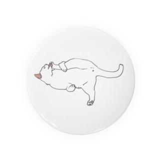 だらねこ(毛づくろい)白猫ちゃん Badges