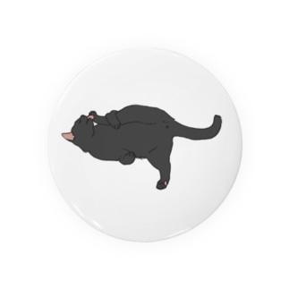 だらねこ(毛づくろい)黒猫ちゃん Badges