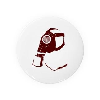 ガスマスク(赤) Badges