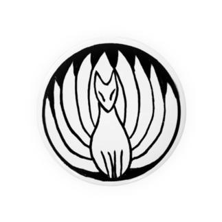 九尾の狐 白黒 Badges