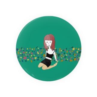 緑の女の子 Badges