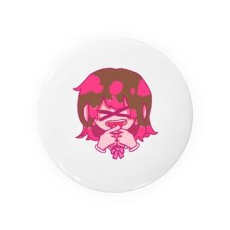 可愛いバツ女の子 Badges
