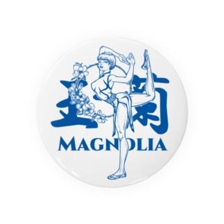 玉蘭blue(白木蓮/ハクモクレン/マグノリア) Badges
