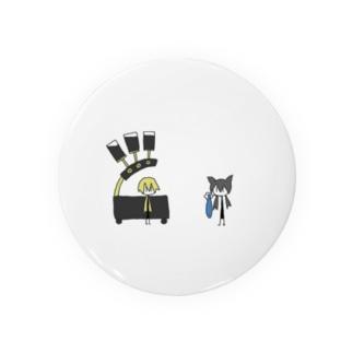 猫とアンドロイドのマグカップ Badges