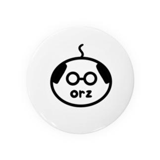 orzさん(眼鏡、修正版) Tin Badge