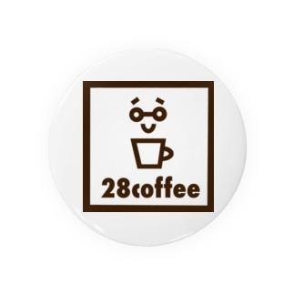 28coffeeステッカー Badges