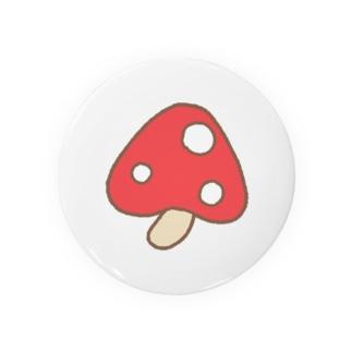 ククまるご愛用キノコ(レッド) Badges