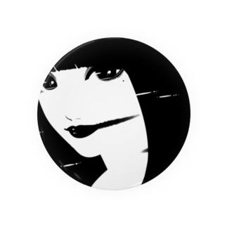 黒 顔02 Badges