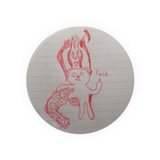 ノートに描いたクマ Badges