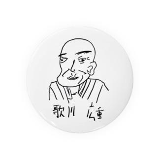 歌川広重缶バッジ Badges