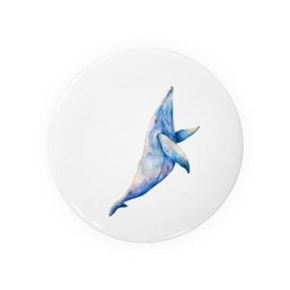 水彩画 クジラ Badges