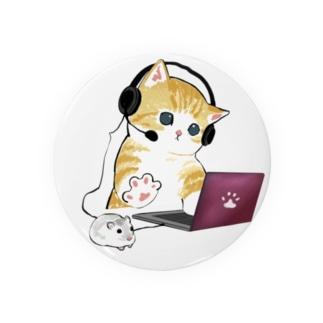 在宅勤務のプロ、その名は猫。 Tin Badge
