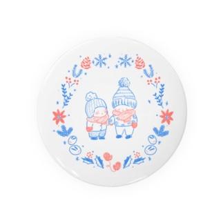 雪の日のモコモコちびっこ Badges