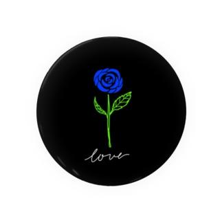 青い薔薇 Badges