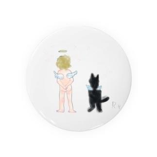 猫と天使 Badges