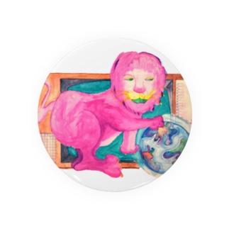 ピンクのライオン Badge
