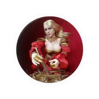 人形写真:日時計を操作する金髪貴婦人 Doll picture: Blonde noble with a sundial Badges